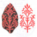 Body Tattoo Print Blocks Floral Paisley Shapes Wood Stamps