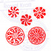 (Set of 5) Retro Shapes Round and Twisted Wooden Stamps for Printing