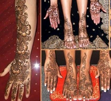 Henna Mehndi Designing using Wooden Blocks Stamps